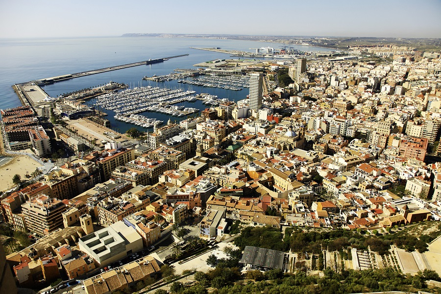 La ville d'Alicante