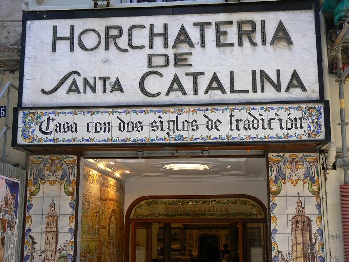 Horchateria de Santa Catalina à Valence en Espagne