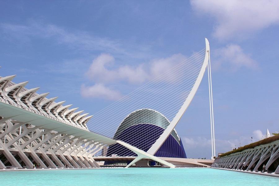 Pont de l'Assut de l'Or à Valence en Espagne