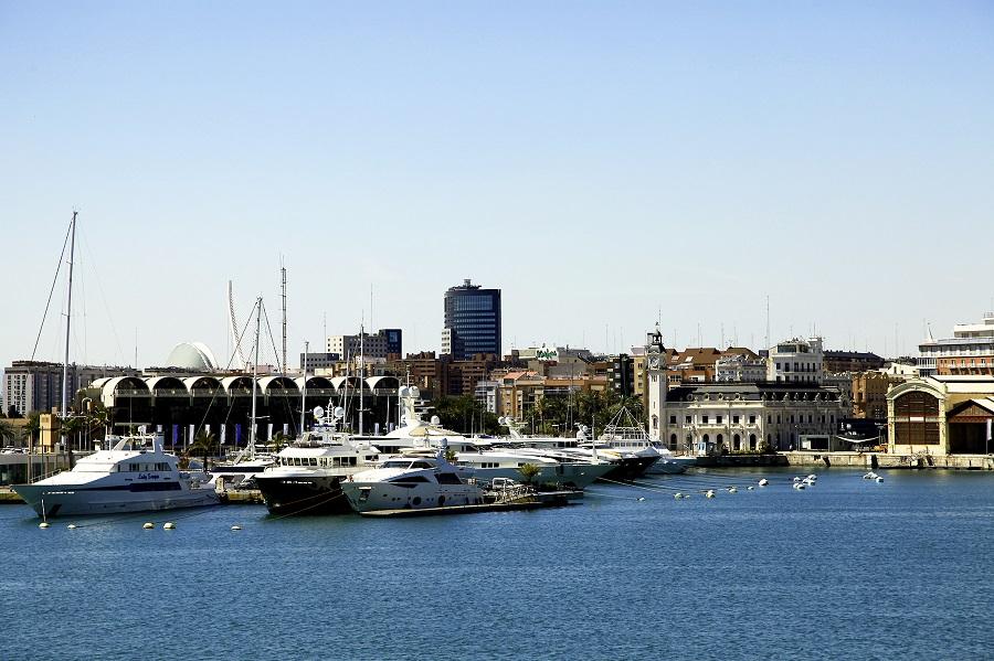 Le port de Valence en Espagne