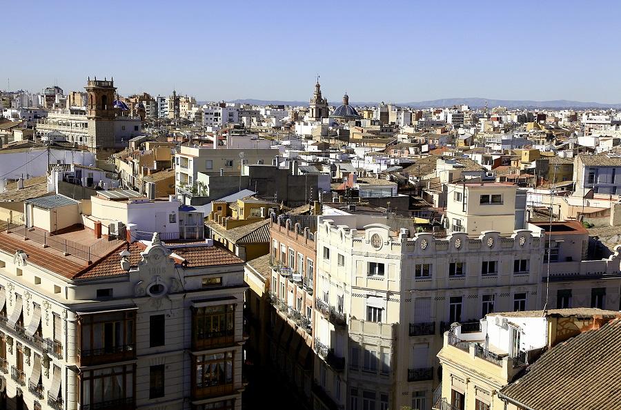La ville de Valence en Espagne
