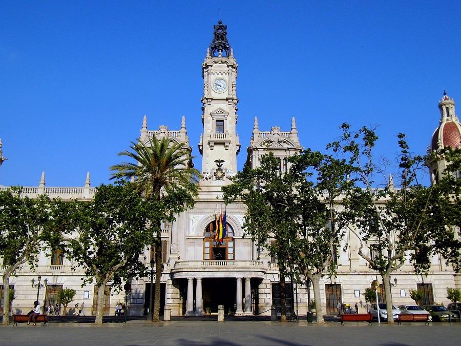 Hôtel de ville de Valence en Espagne