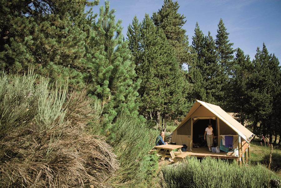 Tente canadienne au camping Huttopia Font-Romeu