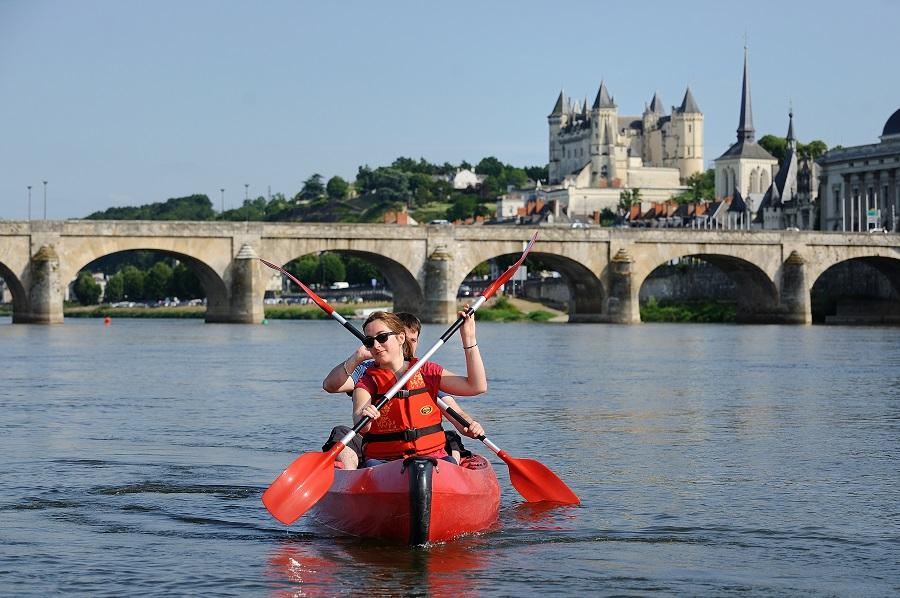 Canoé sur la Loire à Saumur