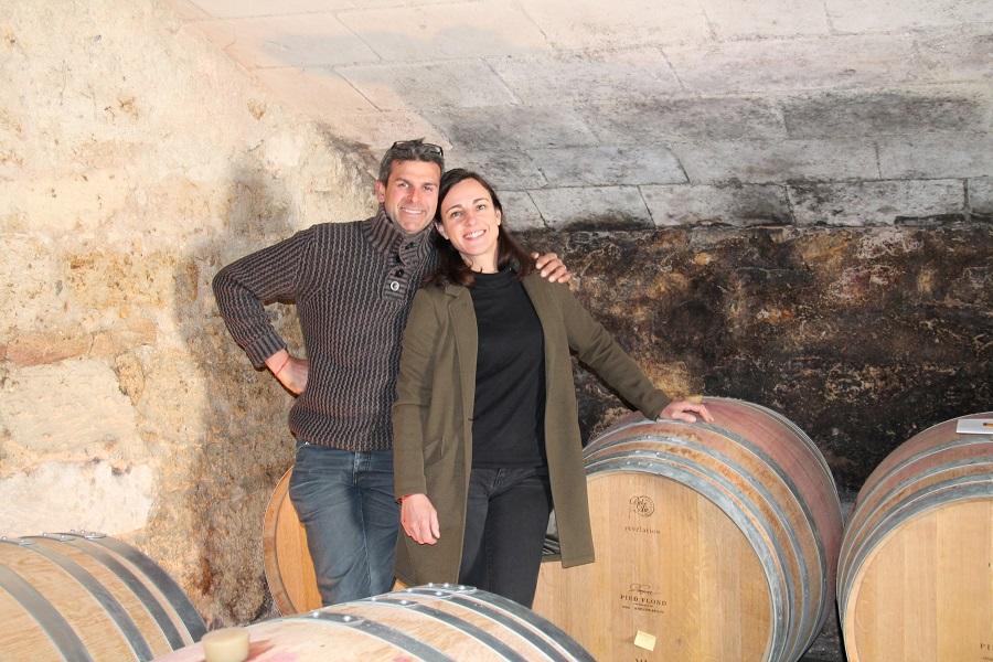 Franck et Catherine Gourdon du Domaine de Pied-Flond