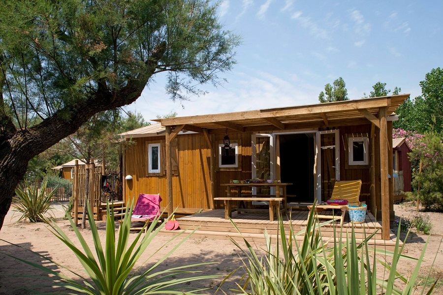 Cabane Jardin Premium au camping Le Sérignan Plage