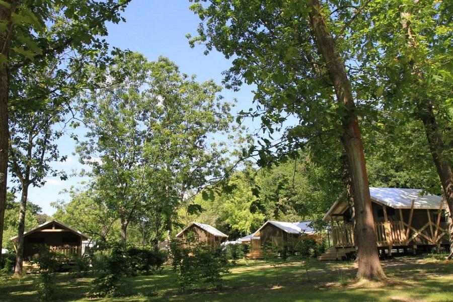 Les tentes lodge du camping de Nantes