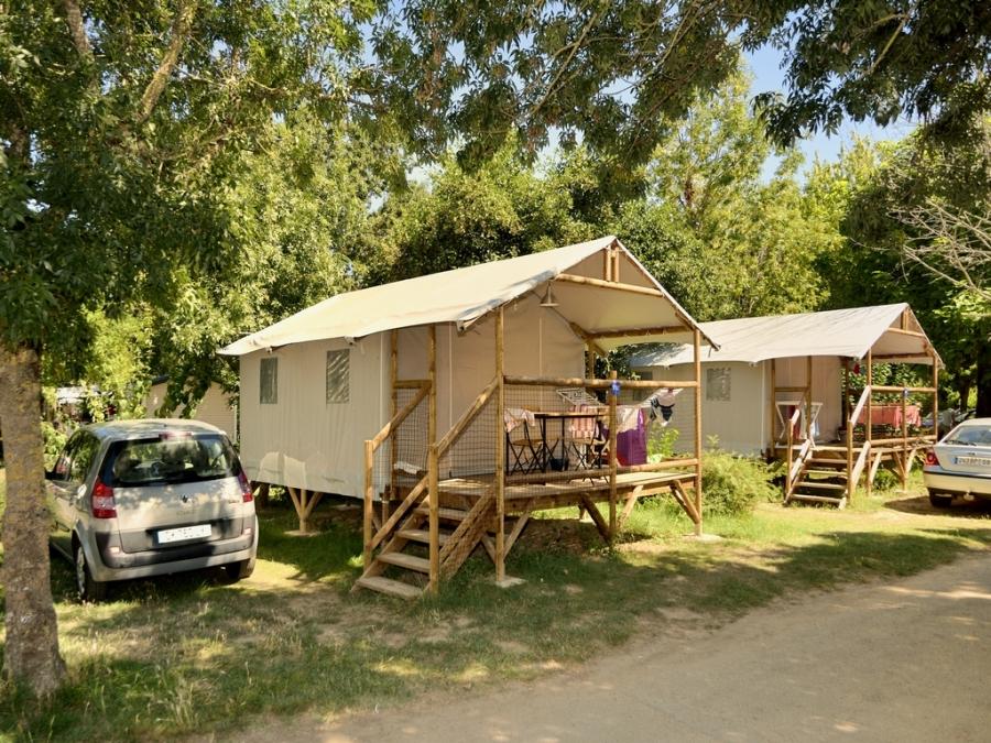 Les tentes lodges du Camping Île d'Offard