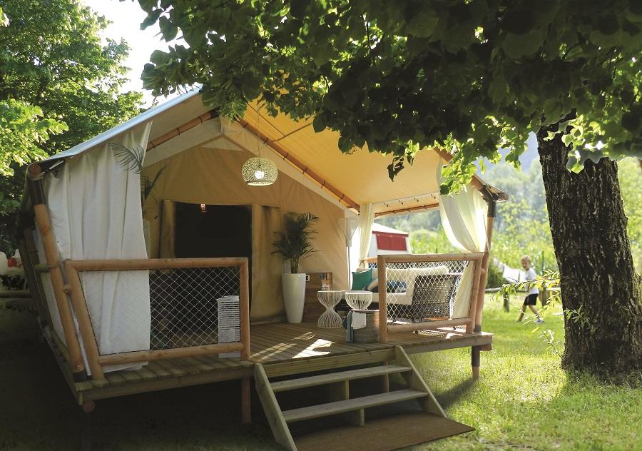 Tente lodge au camping Le Brabois