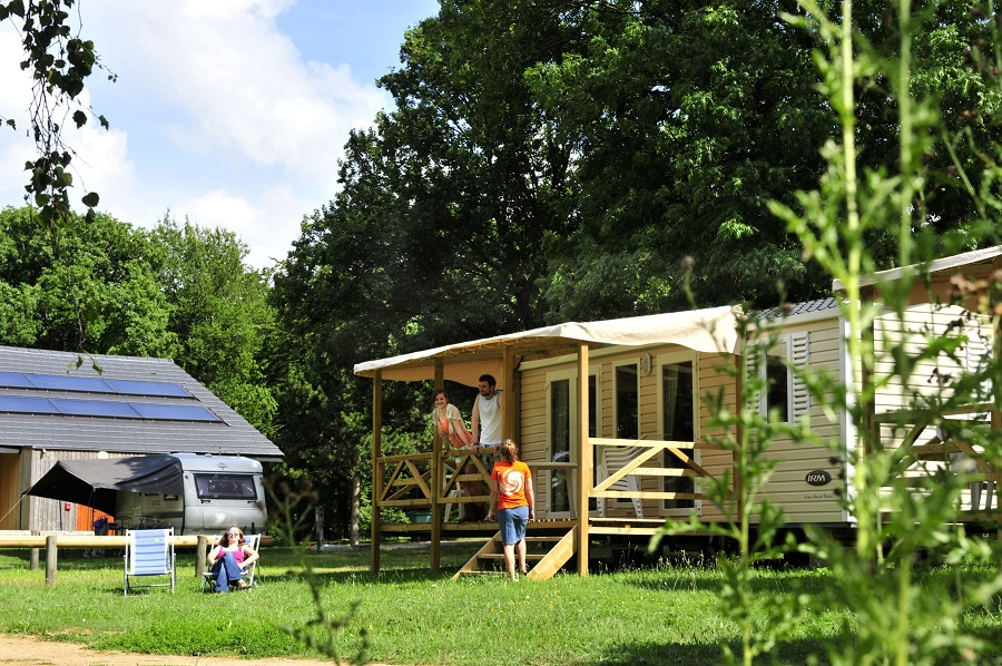 Mobil-home au camping Le Brabois