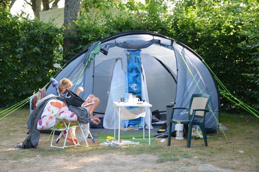 Emplacement pour campeurs au Camping Robinson