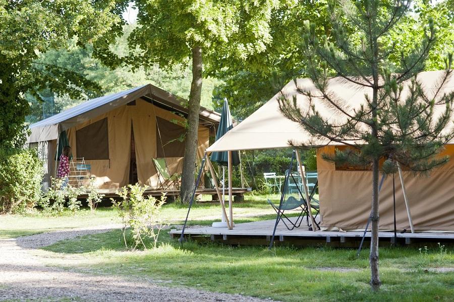 Les tentes Toile&Bois du Camping de Paris