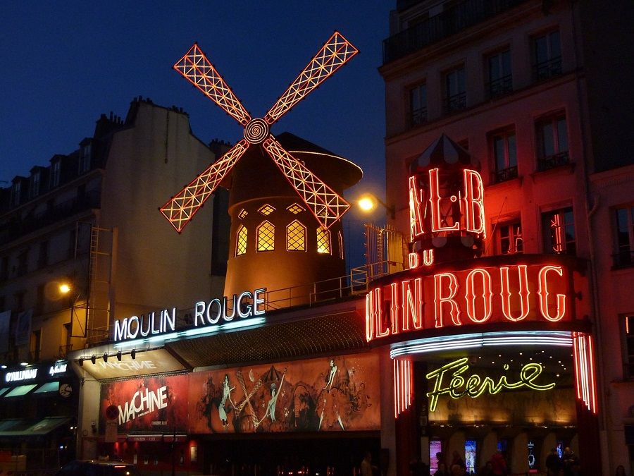 Cabaret le Moulin Rouge à Paris