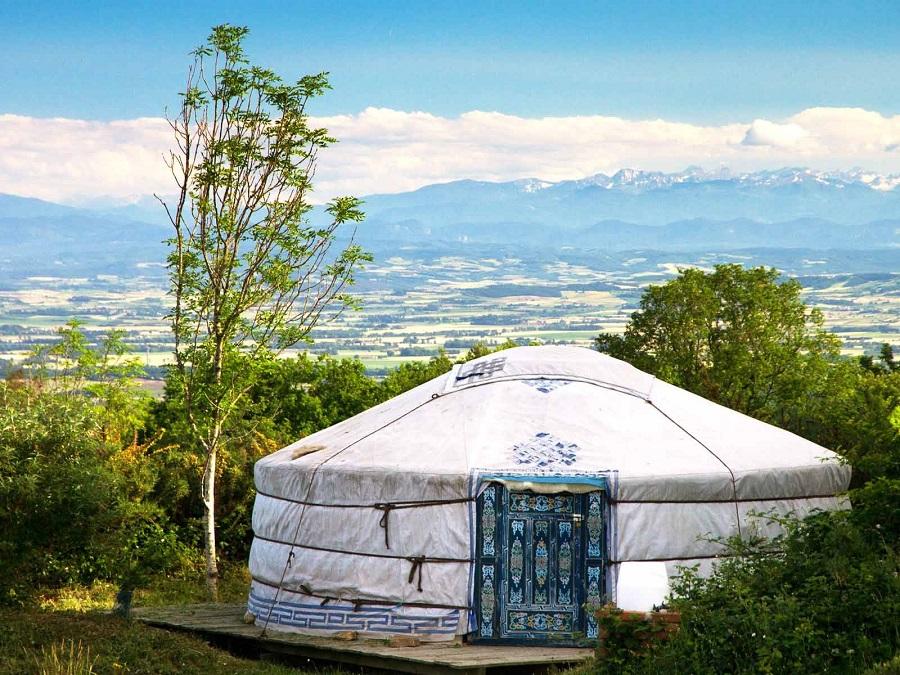 Yourte au camping Le Bout du Monde