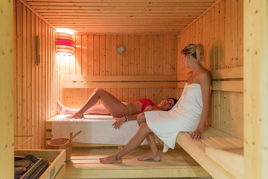 Sauna au Spa Océan du Camping L'Océan