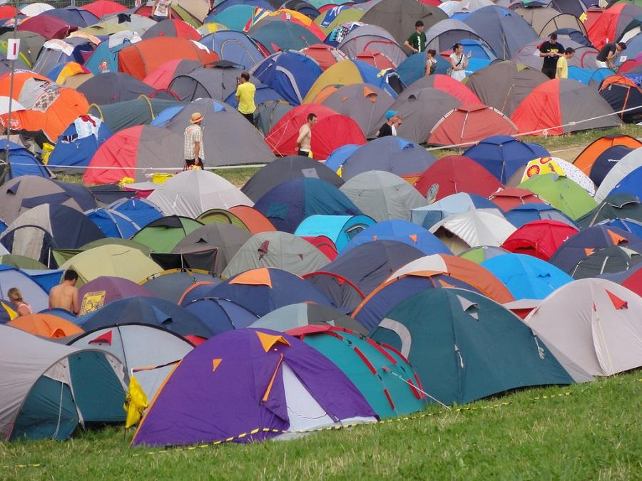 Le camping du festival