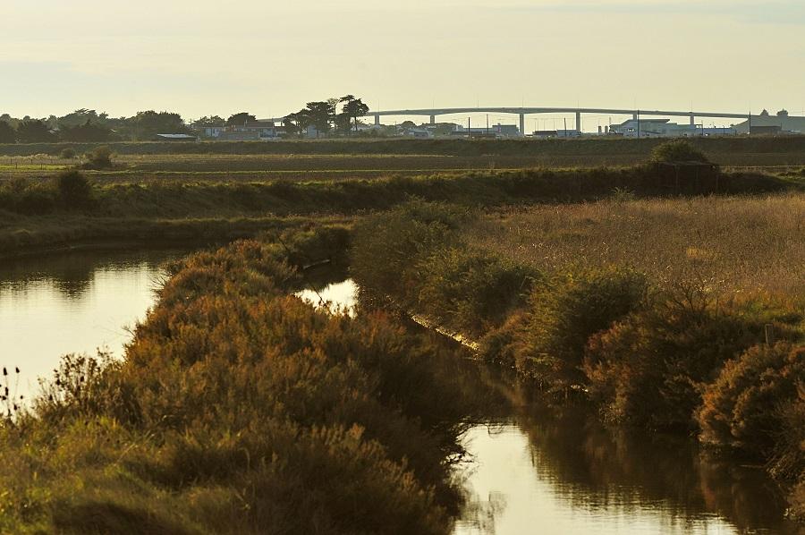 Le pont de Noirmoutier depuis Fromentine
