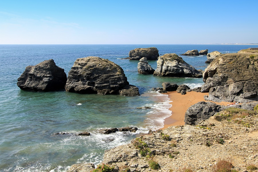 La côte rocheuse de Saint-Hilaire-de-Riez
