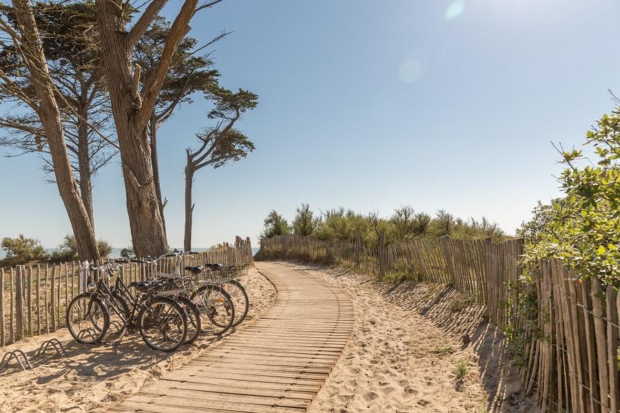Camping L'Océan sur l'île de Ré avec accès direct à la plage