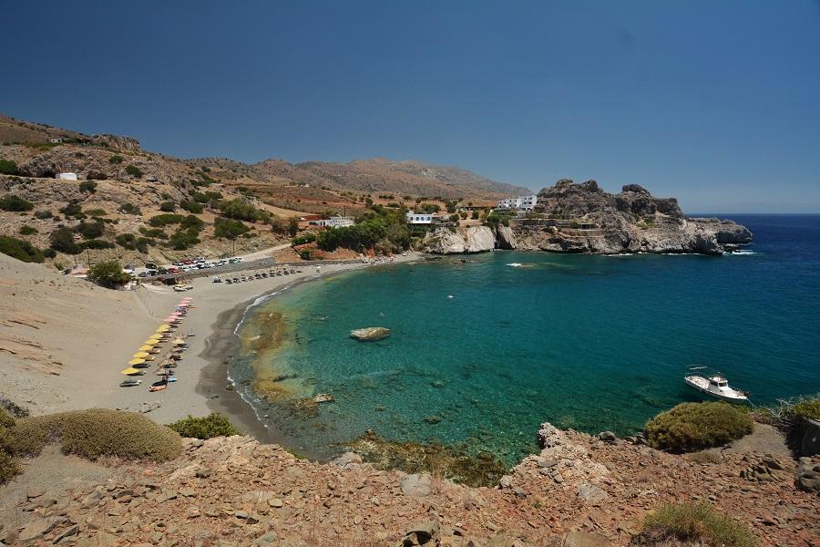 La baie d'Agios Pavlos