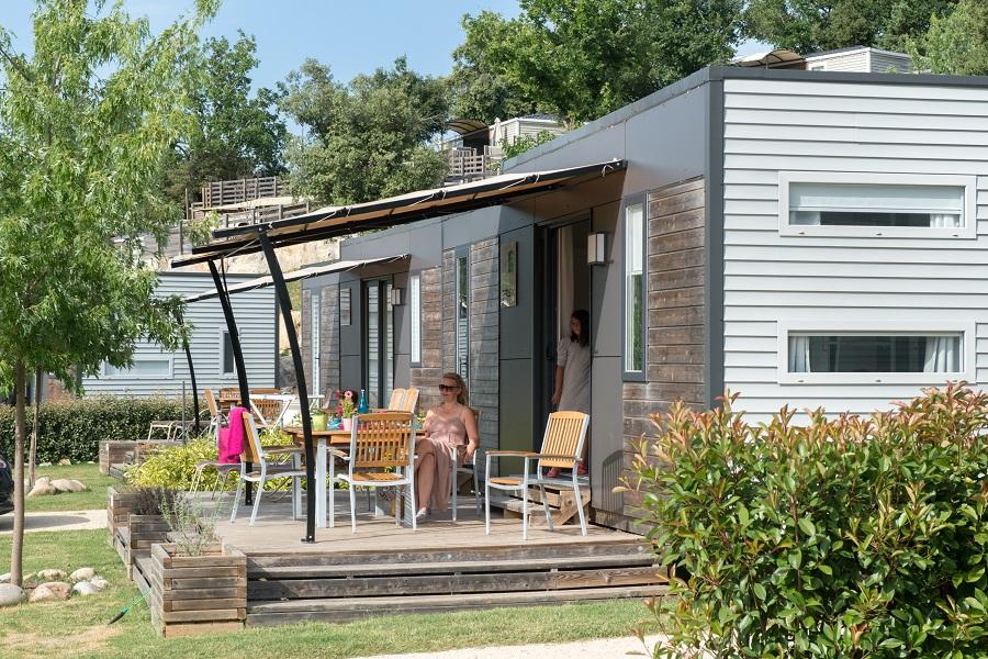 Mobil-home au camping Sunêlia Aluna Vacances