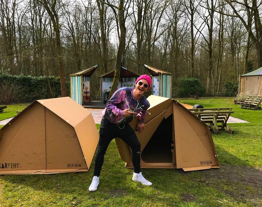 Le carton recyclable de la tente Kartent