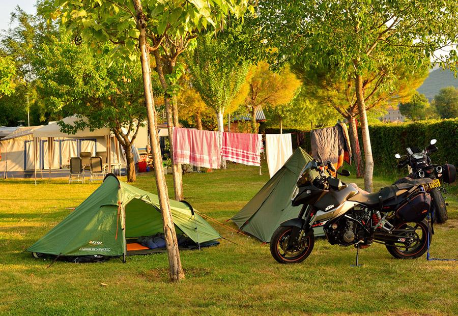 Camping à moto