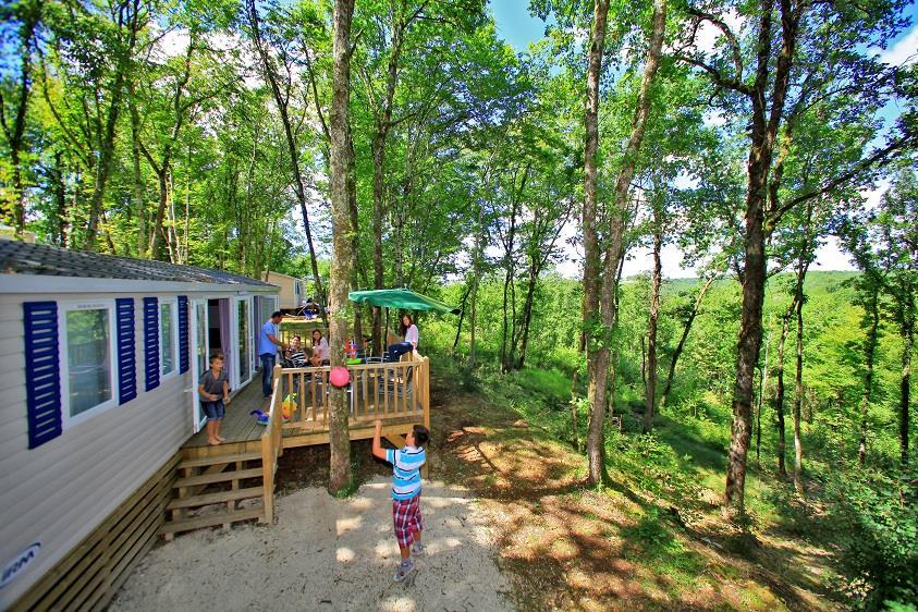 Location - Mobil Home Premium - 3 Chambres - Camping Castel Domaine La Paille Basse