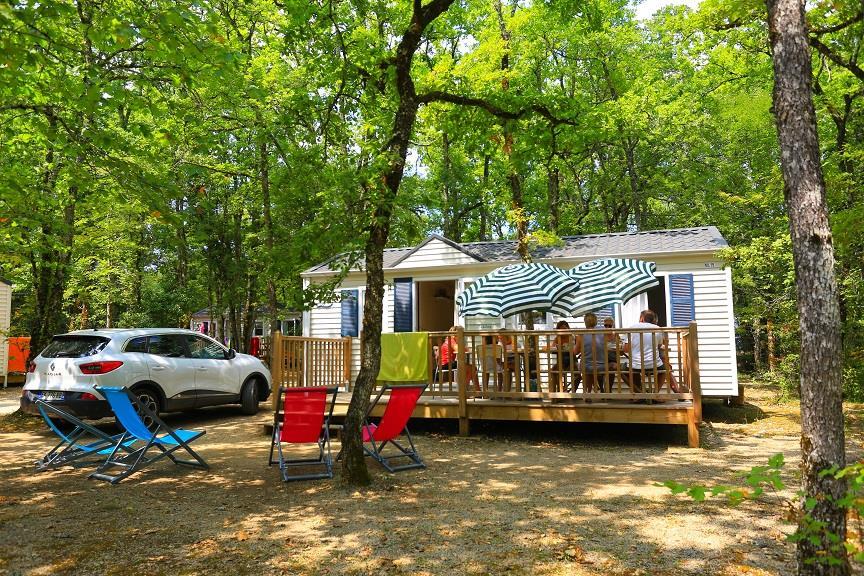 Location - Mobile Home Lounge - 2 Chambres - Camping Castel Domaine La Paille Basse