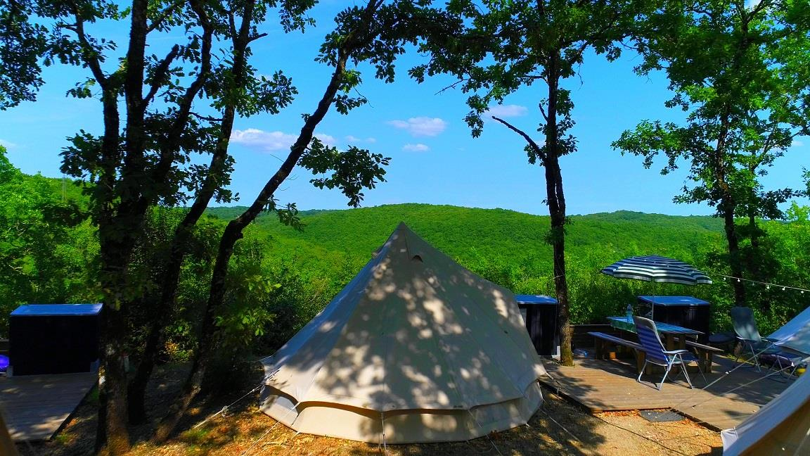 Location - Tente Glamping - Deux Tentes Sur L'emplacement - Camping Castel Domaine La Paille Basse