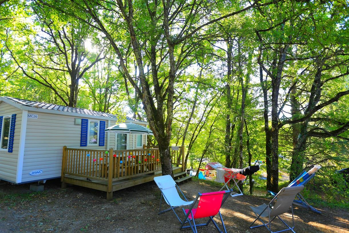 Location - Mobil Home Cosy - 2 Chambres - Camping Castel Domaine La Paille Basse