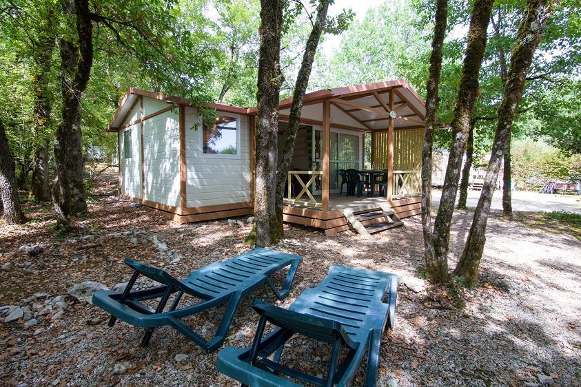 Location - Chalet Confort - 3 Chambres - Camping Castel Domaine La Paille Basse
