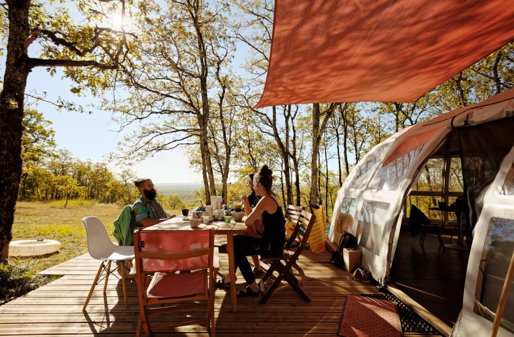 Camping la Truffière, Saint-Cirq-Lapopie, Lot