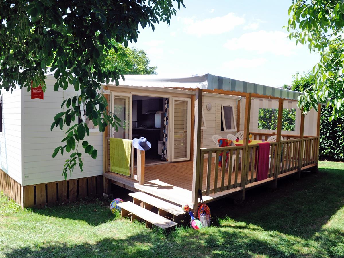 Location - Cottage Dordogne Tribu - 3 Chambres Avec Terrasse Couverte 18M² - Camping Sites et Paysages Le Ventoulou