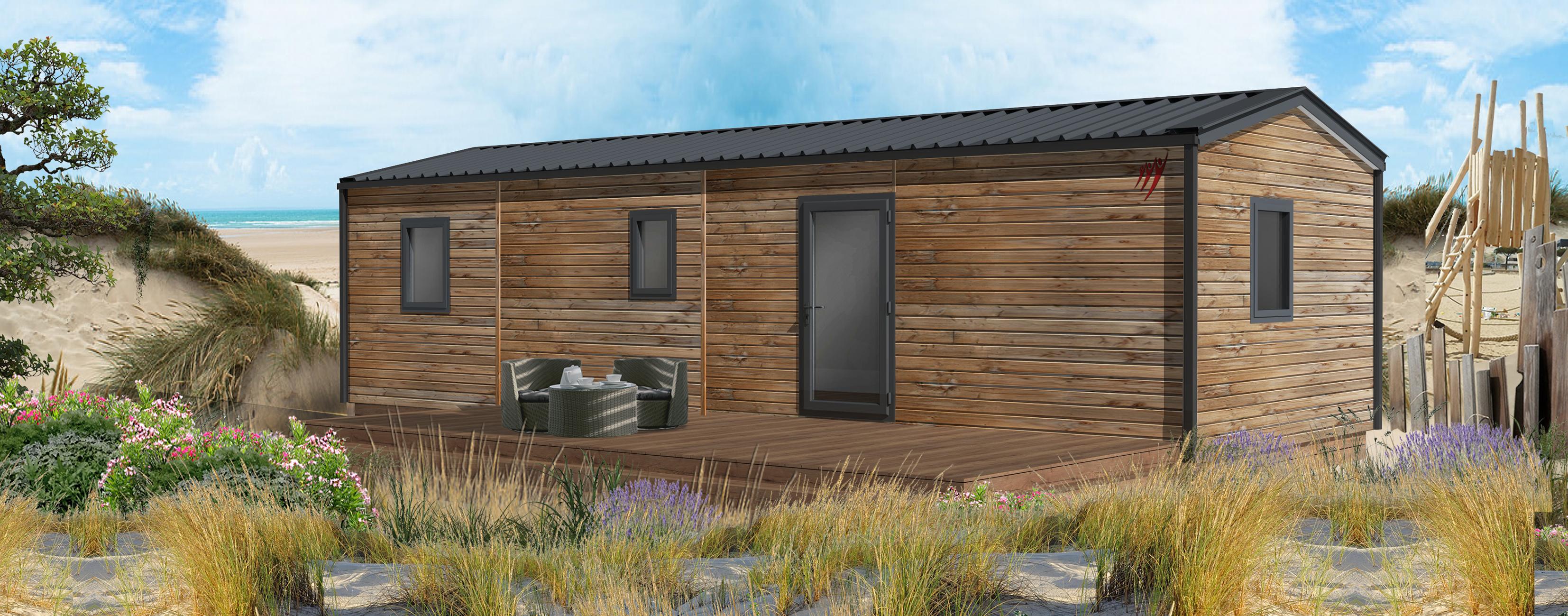Location - Cottage P'tit Quercynois (Pmr)  - 2 Chambres - 2 Salles De Bain - Camping Sites et Paysages Le Ventoulou