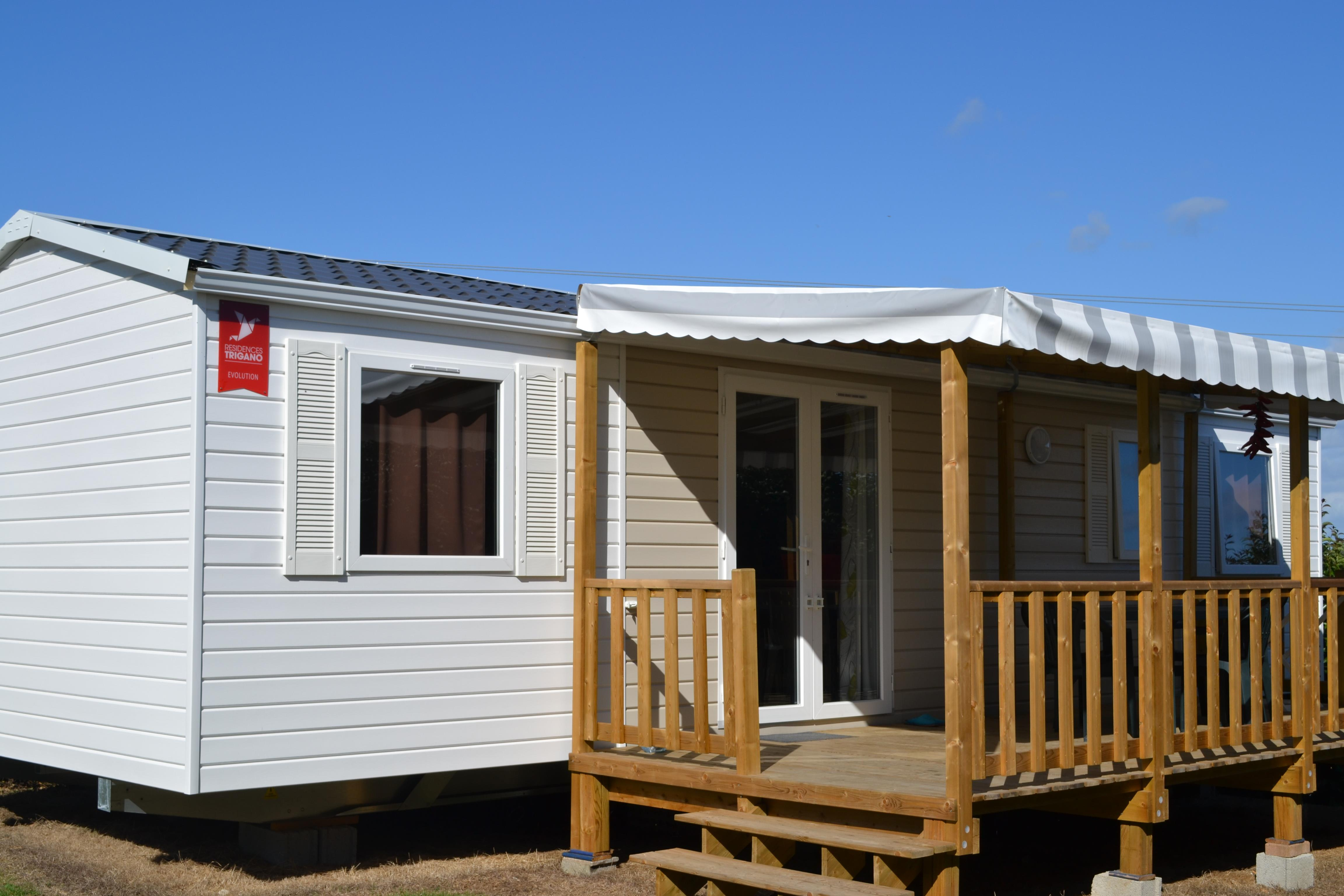 Location - Mobilhome Confort+ (4 Chambres) Avec Terrasse 40 M² - Camping Les Jardins de Kergal