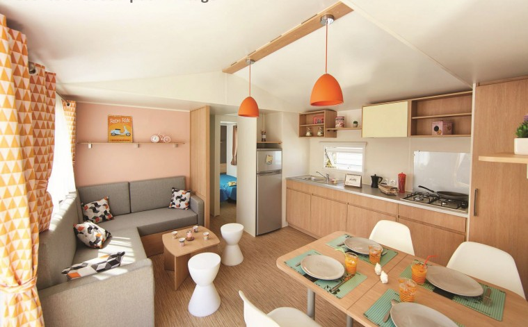 Location - Mobilhome Confort (3 Chambres) Avec Terrasse 35M2 6 Pers. - Camping Les Jardins de Kergal