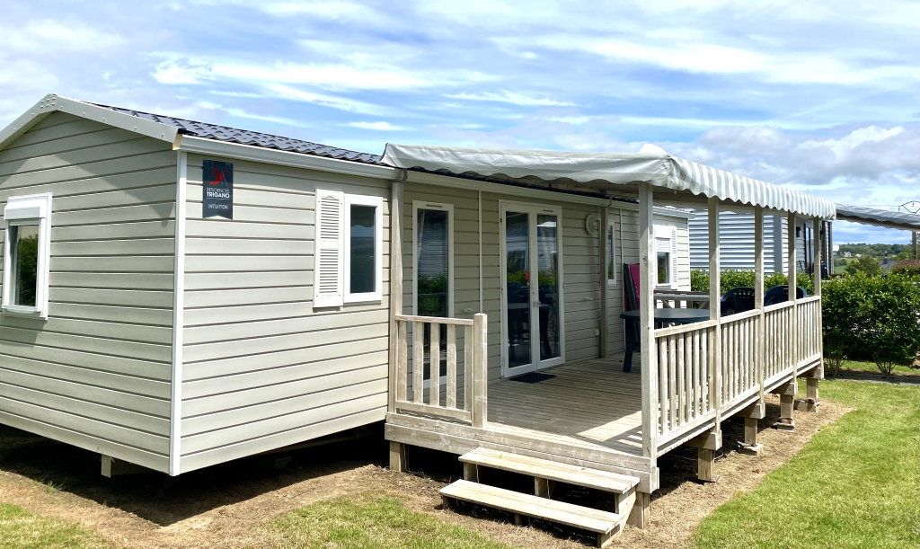 Location - Mobilhome Premium (3 Chambres, 2 Salles De Bain) Avec Terrasse 40 M² - Camping Les Jardins de Kergal