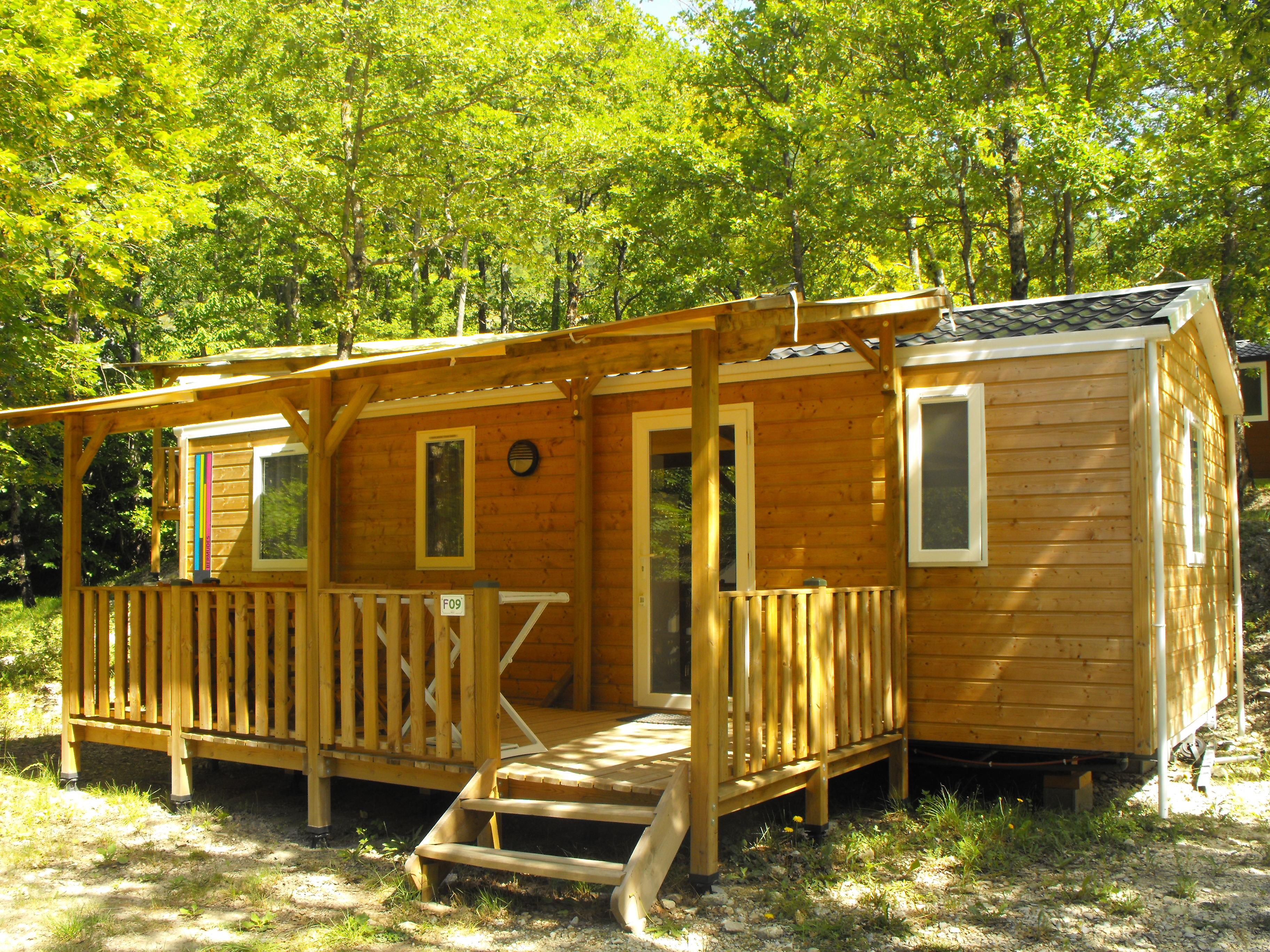Huuraccommodatie - Mobilwood 3 Rooms - Sites et Paysages La Source du Jabron