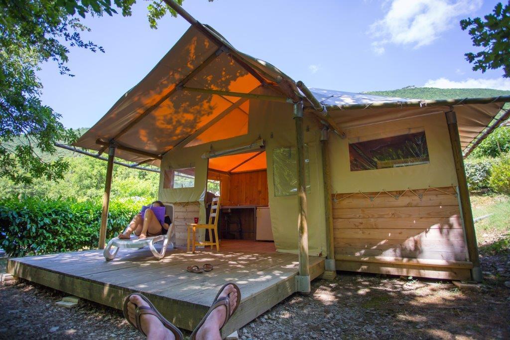 Location - Tente Lodge - Camping Sites et Paysages La Source du Jabron