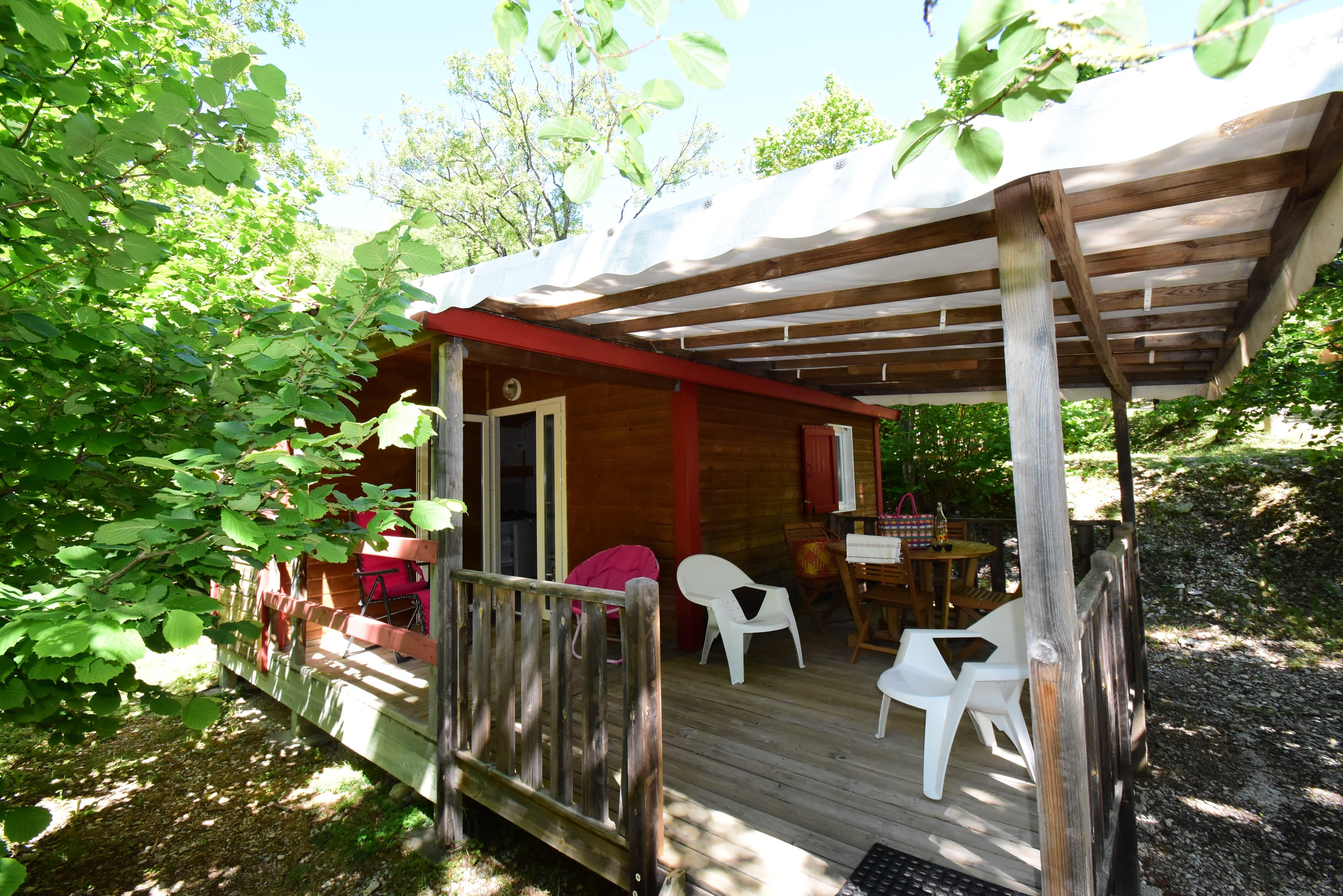 Location - Chalet 2/3 Personnes - Camping Sites et Paysages La Source du Jabron