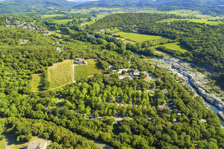 Camping les Cascades, La Roque-sur-Cèze, Gard