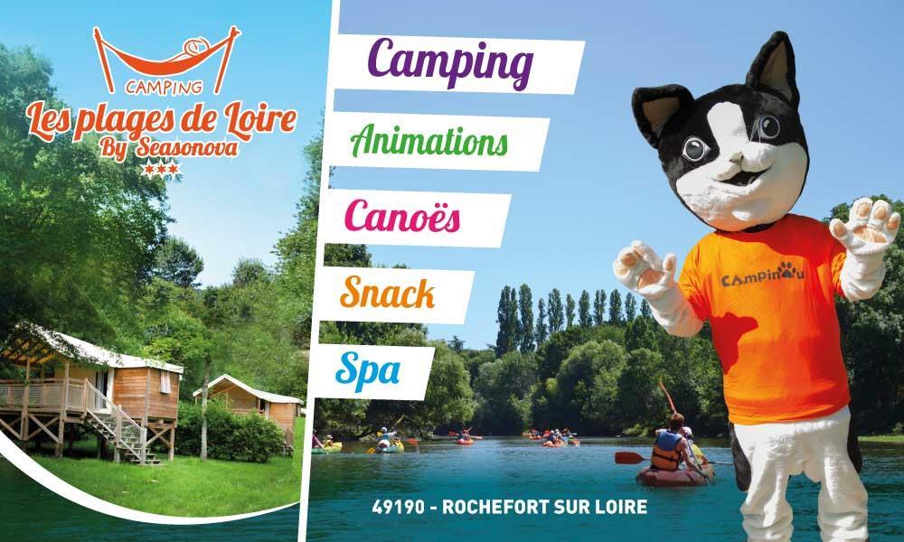 Camping  les Plages de Loire, Rochefort-sur-Loire, Maine-et-Loire