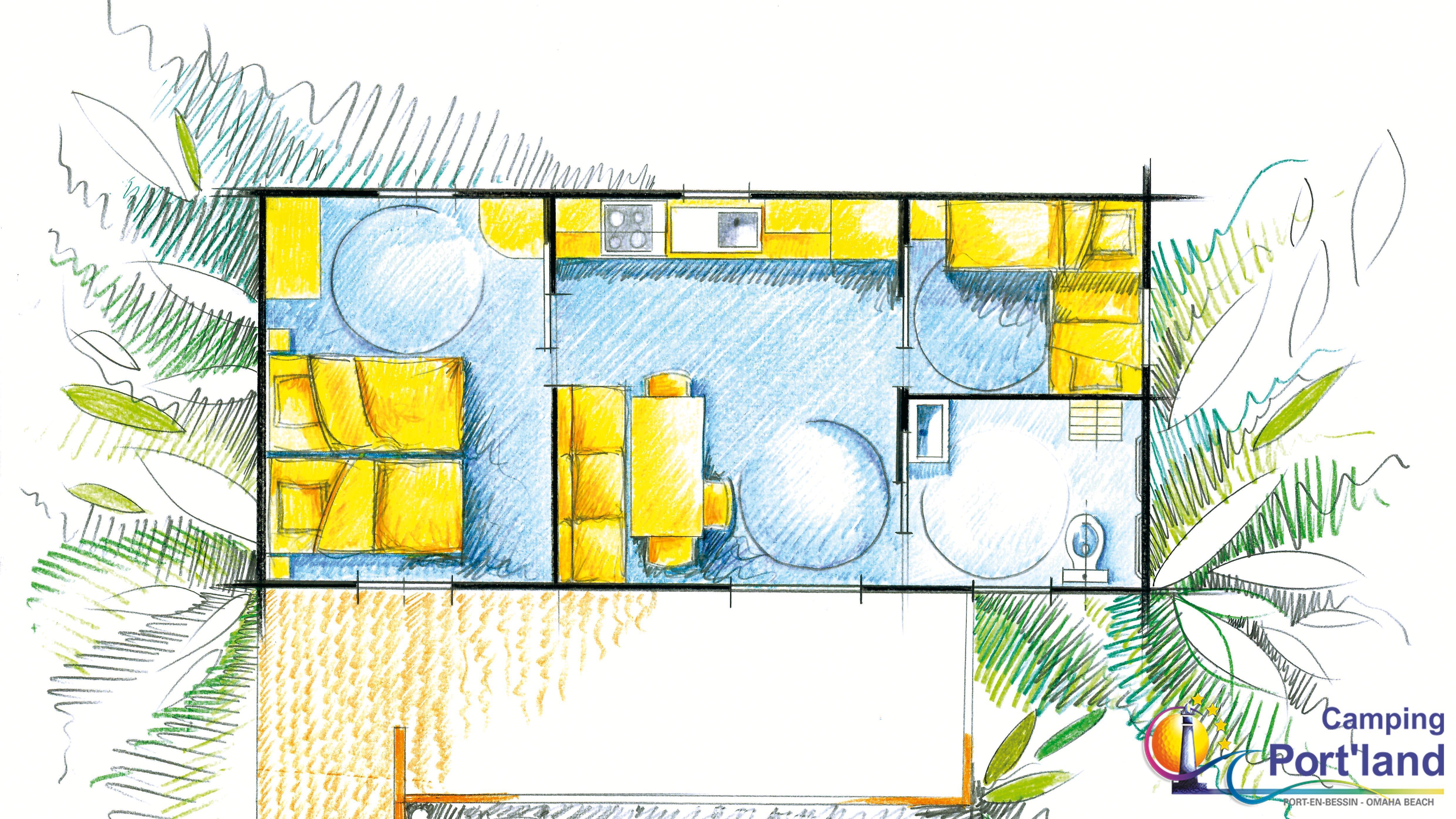 Cottage Sword adapté aux PMR 30m² (2 chambres)