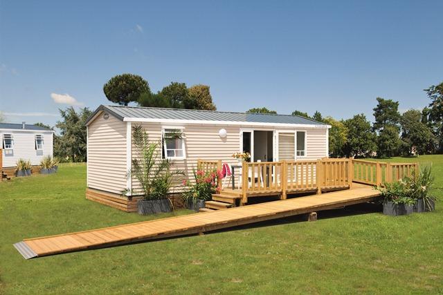 Location - Mobil-Home 32M² (2 Chambres) + Tv + Terrasse - Adapté Pour Personnes À Mobilité Réduite - Flower Camping Le Bois d'Amour