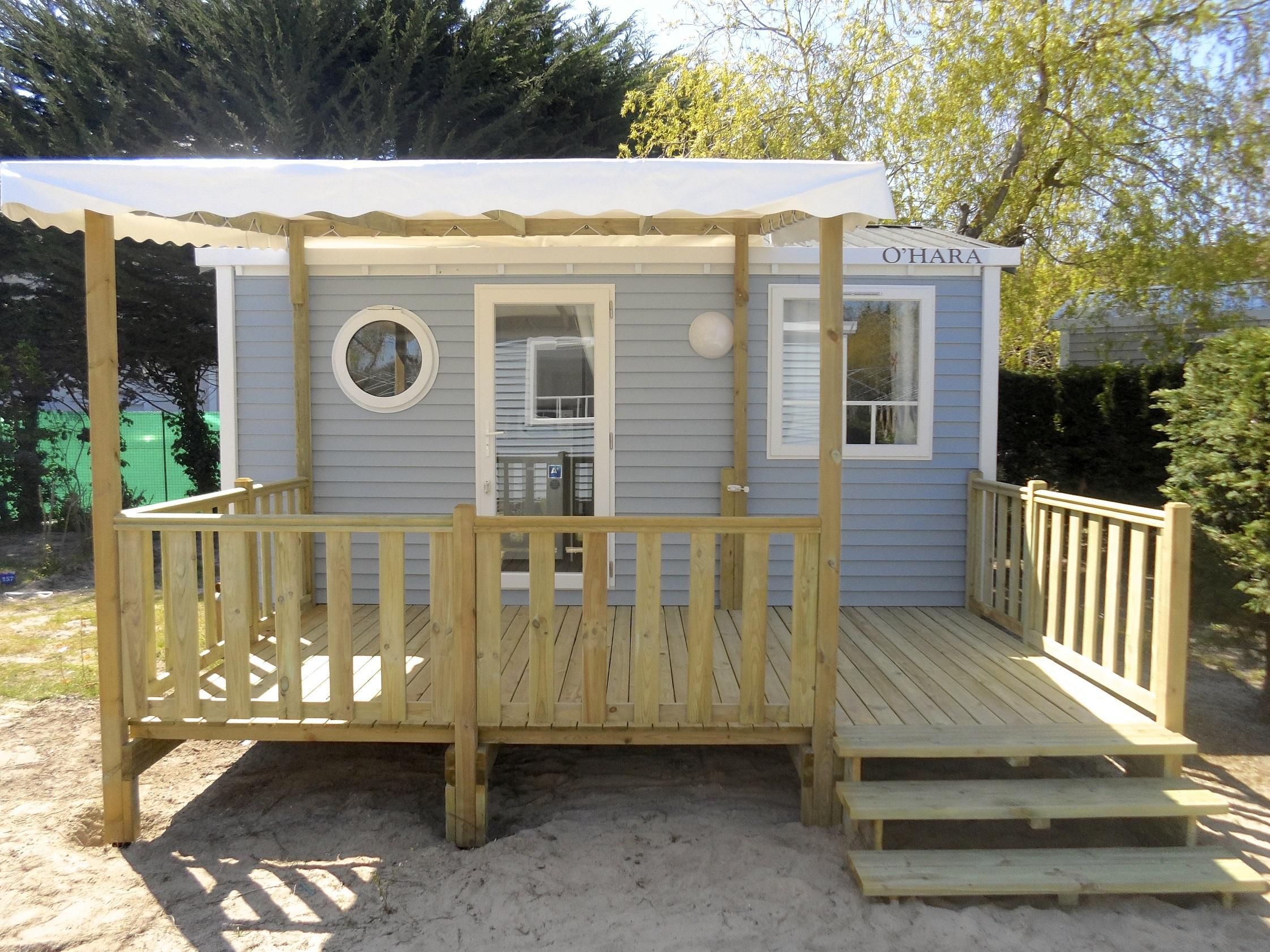 Location - Mobil-Home Confort+ 18M² (1 Chambre) + Terrasse - Flower Camping Le Bois d'Amour