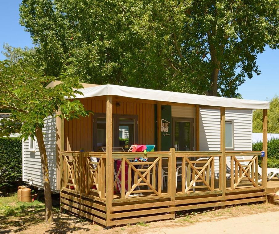 Location - Homeflower Premium 2 Chambres + Terrasse + Lave-Vaisselle + Tv + Draps Inclus - Flower Camping Le Bois d'Amour