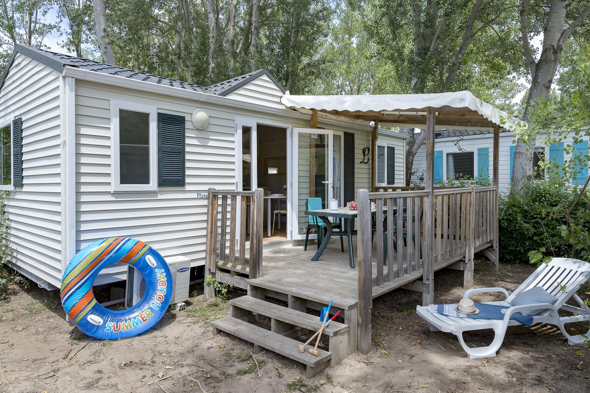 Location - Cottage 2 Chambres Climatisé** - Camping Sandaya Les Vagues
