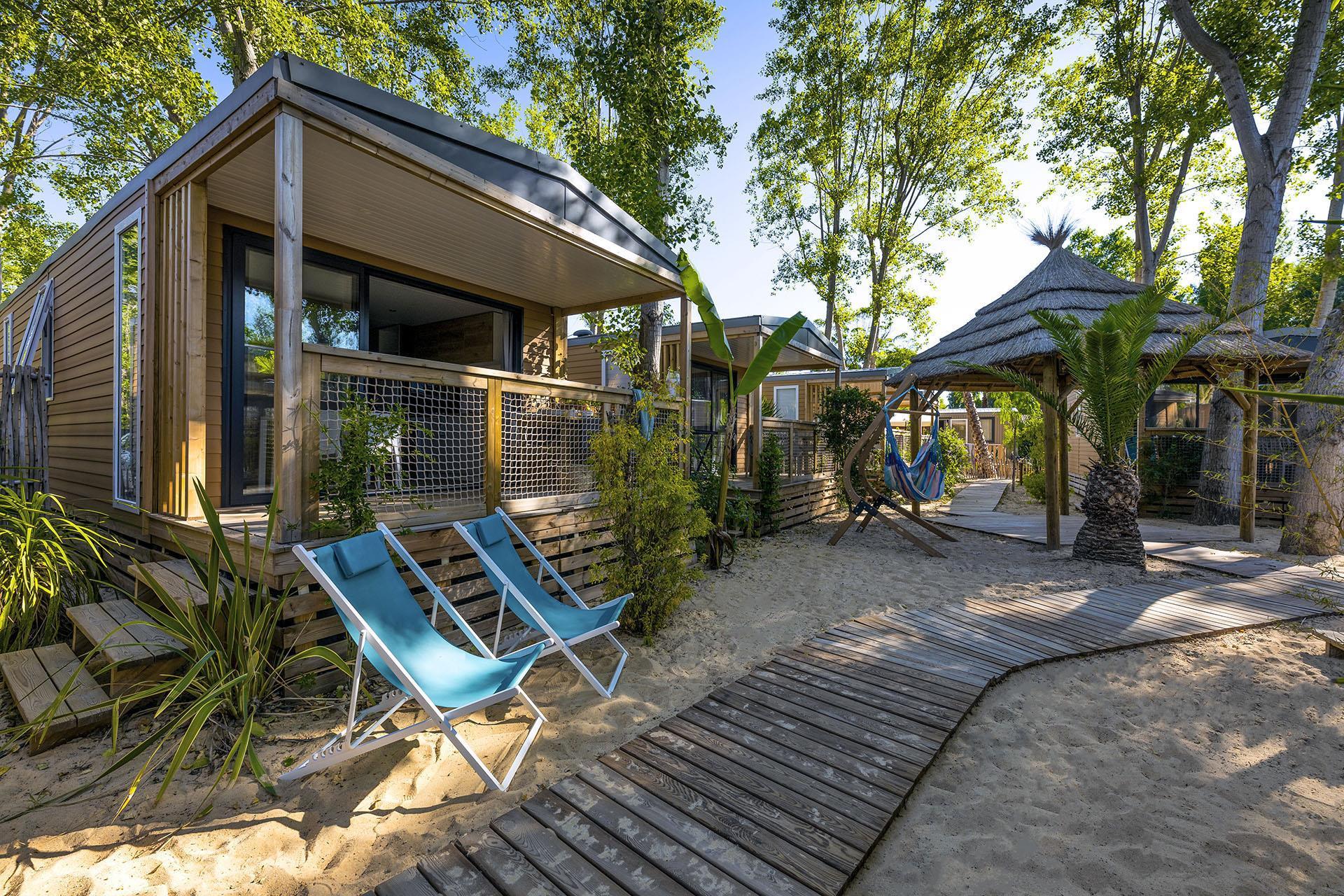 Location - Cottage Robinson 2 Chambres Climatisé**** - Camping Sandaya Les Vagues