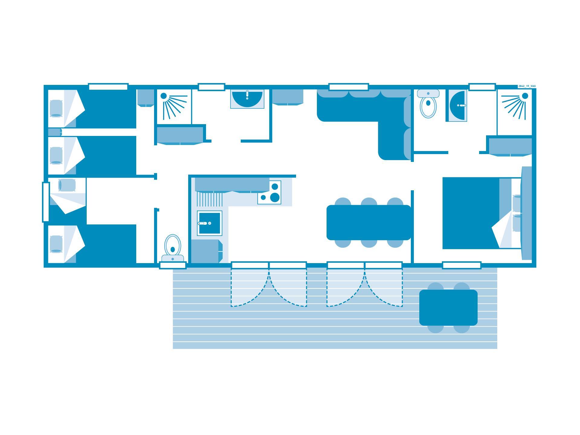 Location - Cottage 3 Chambres**** - Camping Sandaya Les Vagues